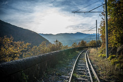 """The way of the Life, France, Isère."" (luckyice38) Tags: railway chemindefer train station trainstation landscape paysage france endofday day automne autumn life wayofthelife chemindelavie time throughtime age ilce7 sony sonyalpha7 alpha7 a7 sonya7 sonyfe28mmf2 sony28mm sonyfe28mm fe28mmf2 fe28mm october octobre sel28f20 voieferrée"