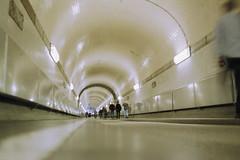 on and on (flyerkat_L.E.) Tags: elbtunnel hamburg city people film analog agfavista200 nikon fm2 35mm