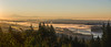 Vancity Autumn Morning (Sworldguy) Tags: sunrise skyline vancouver foggy harbour bridge britishcolumbia canada morning pacificnorthwest bc orange landscape cypress mountains lionsgate panoramic nikon d7000 dslr downtown tourism cityscape port