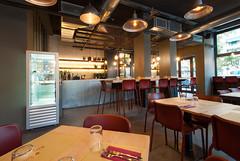 _DSC2038 (fdpdesign) Tags: pizzamaria pizzeria genova viacecchi foce italia italy design nikon d800 d200 furniture shopdesign industrial lampade arredo arredamento legno ferro abete tavoli sedie locali