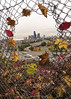 City of Seattle Behind A Wreath of Fall Leaves (Paul Scearce) Tags: seattle washington washingtonstate seattlewa park fall leaves chain fence cityscape transportation skyscrapers nikon d5500 tokina 1116mm freeway