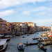 Venice, the grand canal, view from Rialto bridge