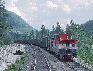 North of North Vancouver, BC we met a crew working at Tisdall siding on May 21, 1992