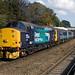 37716 departs from Reedham working 2J80 1455 Norwich - Lowestoft 1/9/2017