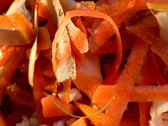 Veggie Peelings.....FOUND IN THE KITCHEN.....Macro Mondays (Lani Elliott) Tags: macromondays foundinthekitchen superb fantastic beautiful lanielliott orange bright peelings macro upclose close closeup light veggiepeelings macrounlimited memberschoicefoundinthekitchen wow excellent