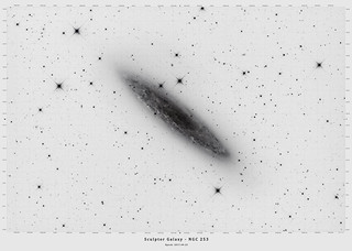 Sculptor Galaxy - NGC 253 - Star Chart by Mike O'Day