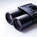 Black binoculars, close up