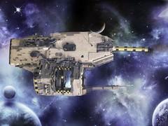 Axolotl Cruiser Class (SHIPtember V) (Brickie Smalls) Tags: ship lego legospace space bricks