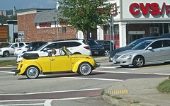 standing out (muffett68 ☺ heidi ☺) Tags: yellow bug vw convertible worcester