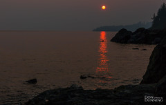 Sunset During the Wildfires (Don Dunning) Tags: britishcolumbia canada canadianprovince dusk evening ocean straitofjuandefuca sunset vancouverisland water