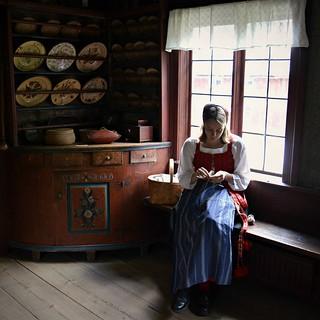 Stoccolma, l'interno di una casa svedese del Settecento ricostruito al museo Skansen