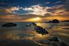 Tiempo para disfrutar... (protsalke) Tags: longexposure sunset landscape light colors beautiful calm sky clouds nikon andalucia colores atardecer sun sol sea playa luces bolonia rocks seascape 9stops