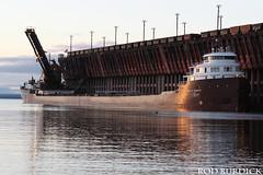 keb10417ldsrise_rb (rburdick27) Tags: sunrise marquette lakesuperior oredock kayeebarker interlakesteamshipcompany