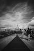 London, October 2017 (Etienne Gaboreau) Tags: shard london londres building black white sky clouds long exposure pose longue nd110 bw1000 filter neutral density st paul saint cathedrale cathédrale thames tamise river bridge millenium southbank