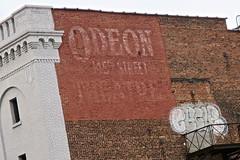 Odeon Theatre Ghost Sign, New York, NY (Robby Virus) Tags: newyorkcity newyork nyc ny manhattan bigapple city odeon theatre 145th street ghost sign signage ad advertisement brick wall