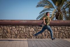Running man (motecarlox) Tags: run nike late inrush barcelona beach sun pamls warm summer