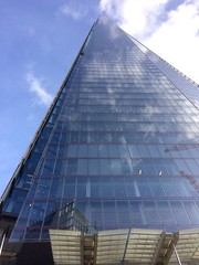 The Shard tallest UK building. (Bennydorm) Tags: reflections impressive high capital urban city iphone5s october architecture londres inglaterra inghilterra angleterre europe uk gb britain england london clouds glass blue highest tallest tall modern skyscraper sky buildings building theshard