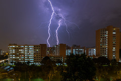 Lightning at Hougang (BP Chua) Tags: hougang singapore asia storm lightning hdb house housing estate night canon 7d2 wideangle landscape weather rain cloud sky electric