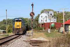 CSX 2637 @ Brownstown, IN (Michael Polk) Tags: csxt j780 freight train indiana subdivision cpl bo baltimore ohio brownstown local emd gp382