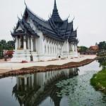 Replica of Sanphet Prasat Palace from Ayutthaya in Mueang Boran, Samut Phrakan, Thailand thumbnail