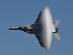 F/A-18E/F Super Hornet & Vapor Cone (Bill Jacomet) Tags: wings over houston 2017 ellington field airport tx texas airshow f18 fa18 fa18ef super hornet vapor cone