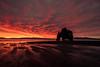 Fire sunrise (raffaeledirosa) Tags: iceland islanda sunrise alba redpassion landscapes beach rocks water travelaroundtheworld livingeurope nikon d810