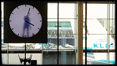 Clock watching (katy1279) Tags: clockclockwatchingpaintingworking24hoursadayschipholairportnetherlandsanimation