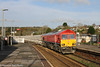 66206 in Afternoon Sun at Lostwithiel (Kernow Rail Phots) Tags: kernow cornwall lostwithiel freight train railway railroad railways trains locomotive wednesday 1st november 2017 signals semaphore scenic trees 66026 sunny shadows blue sky winter class 66 db cargo neu rot red 6p24 1525 parkandillack fowey dock carne point very early canon 7d