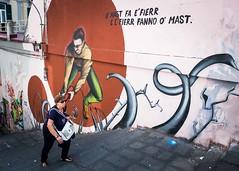 A Helping Hand (XBeauPhoto) Tags: italy oct2017 climbing italia juxta mural naples napoli steps streetart streetphoto streetphotography urban urbanart woman