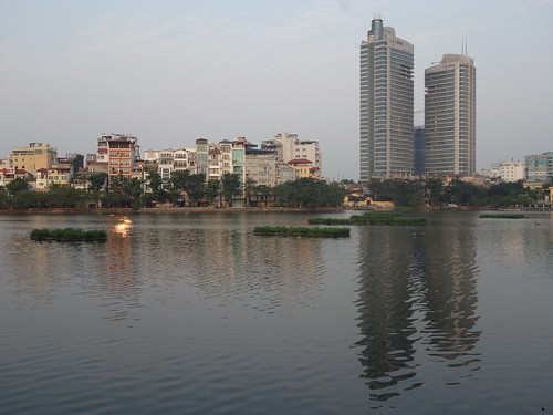 Un des lacs de la ville