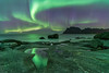 'Stellar Reflections' - Uttakleiv, Lofoten, Norway (Kristofer Williams) Tags: aurora auroraborealis northernlights nightscape night sky stars sea scape coast beach lofoten uttakleiv mountains norway rockpool reflection astro arctic landscape