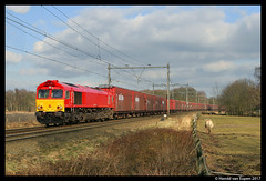 14-02-09 Vught (Harold Planes & Trains) Tags: railion db class66 opel