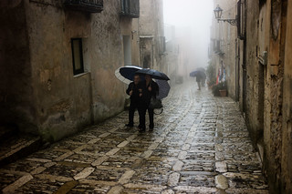 Sicily:  A Damp Morning in Erice
