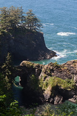 Hwy 101 CA-OR July 2018-29 (ntisocl) Tags: 2017 canon1dmarkiii canonef2470mmf28lusm hwy101 naturalbridgesviewpoint oregon oregoncoasthwy oregoncoast pacificnorthwest pacificocean roadtrip rockybeach waves