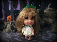 3. No way! (Foxy Belle) Tags: doll halloween kiddle haunted house diorama miniature putz paper cardboard diy mod 1960s tiny lou locket liddle