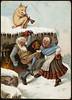 Humoristisk julemotiv tegnet av Wilhelm Larsen (National Library of Norway) Tags: nasjonalbiblioteket nationallibraryofnorway postkort postcards julekort christmascards jul christmas wilhelmlarsen griser pigs dansing dancing ølkrus øl beer alkohol alcohol kartongkort overrekkelseskort