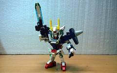 LEGO SD 00 Gundam GN-0000 (demon14082001) Tags: lego gundam frame iron technic bionicle hero factory brick robot mecha toy figure 00 gn setsuna sd bb