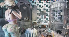 The War Room (clau.dagger) Tags: drd shadowbox monthly subscription decor furniture antique vintage rustic cheveux insol slink blueberry mutresse scarletcreative kalopsia namonoke lepoppycock secondlife