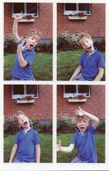 Face the Music (Magnus Bergström) Tags: polaroid snap polaroidsnap analog värmland sverige sweden zink zeroink photo booth photobooth portrait boy shirt house laughter play faces happy ekshärad wermland people lovnil00