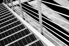 stairs and stripes (emanuele_f) Tags: stairs stripes urban geometry street contaxax carlzeiss planar 50mm rollei retro 80s r09 rodinal 125 blackandwhite analog film