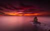 Crepusculu (marcolemos71) Tags: seascape portuguesecoast sea water hightide atlanticocean dusk sky clouds naudoscorvos berlengas farilhões cabocarvoeiro peniche burningsky minimalism crepusculu marcolemos