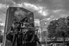 Poetry, Patriotism and Pru (Bingo3362) Tags: bw fenway greenline prudential statues