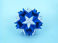 No name (masha_losk) Tags: kusudama кусудама origamiwork origamiart foliage origami paper paperfolding modularorigami unitorigami модульноеоригами оригами бумага folded symmetry design handmade art