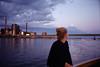 Viki & the Moon (amanda aura) Tags: film helsinki finland olympusmjuii ocean sky friend boat