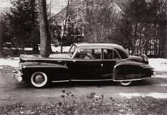 Keeper, 1955 (clarkfred33) Tags: lincolncontinental 1948 classy classic vintage vintagephoto ridgewood 1955 polaroid vintagecar blackandwhite 1948lincoln classiccar
