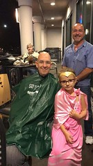 "Celebratory head shave for St. Baldrick's after surpassing the fundraising goal. • <a style=""font-size:0.8em;"" href=""http://www.flickr.com/photos/131449174@N04/36844189113/"" target=""_blank"">View on Flickr</a>"