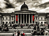 National Gallery - red splash (pieterleroux3) Tags: 760d canonphotography canon travelphotography travel streetphotography steps splash red blackwhite blackandwhite bnw nationalgallery unitedkingdom london england