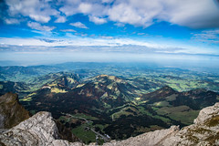 landscape view from the mountains (potto1982) Tags: nikon landschaft europa nature switzerland berge berg landscape swiss natur sigma landschaftsbild wolke alps 2017 wandern mountains schweiz cloud hiking alpen sky nikond810 himmel europe d810 mountain urnäsch appenzellausserrhoden ch