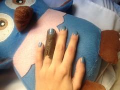 Desafio Segura a Coisa - Princesa em Fuga (Avon) (Daniela nailwear) Tags: desafioseguraacoisa princesaemfuga avon periwinkle contosdefadasàsavessas shimmer esmaltes mãofeita