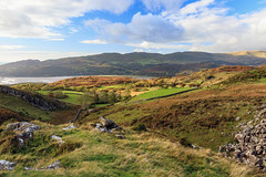 Valley Light (Howie Mudge LRPS BPE1*) Tags: cwm valley rugged rough terrain landscape nature ngc nationalgeographic photo photograph photography photographer outside outdoors travel travelling traveller gwynedd wales cymru uk sky clouds autumn autumnal october 2017 grass bracken rocks boulders estuary water river trees fields view vista scene scenery scenic canon canoneos80d efs1755mmf28isusm light shade shadows